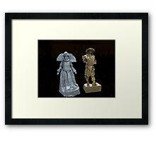 Human Statues Framed Print