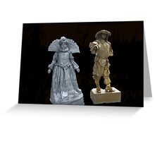Human Statues Greeting Card