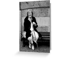 BW Woman with Cain Greeting Card