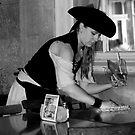 BW Waitress 02 by Ronald Eller