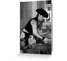 BW Waitress 02 Greeting Card