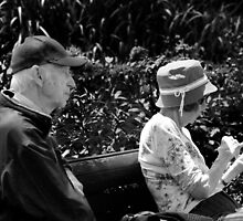 BW Elderly Couple by Ronald Eller