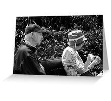 BW Elderly Couple Greeting Card