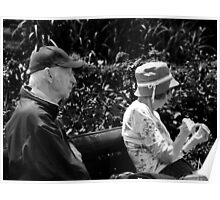 BW Elderly Couple Poster