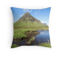 Glencoe.... Bauchaille Etive Beag in summer. Throw Pillow