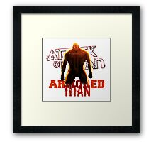 Attack On Titan - Armored Titan Framed Print