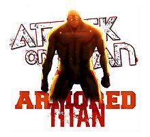Attack On Titan - Armored Titan Photographic Print