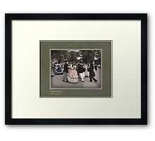 Merriment in the Streets Framed Print