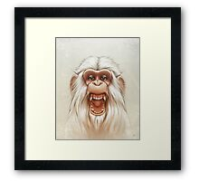 The White Angry Monkey Framed Print