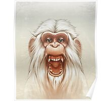 The White Angry Monkey Poster