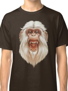 The White Angry Monkey Classic T-Shirt