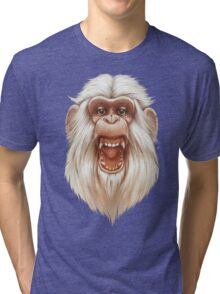 The White Angry Monkey Tri-blend T-Shirt