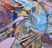 Colorful Graffiti Abstract by tjtsphotography