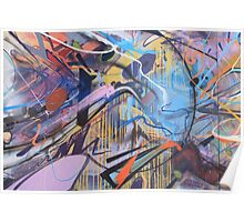 Colorful Graffiti Abstract Poster