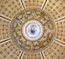 Library of Congress Ceiling, Washington, D.C. by Carol M.  Highsmith