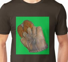 Two Vintage Baseball Mitts Unisex T-Shirt