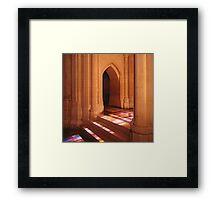 National Cathedral Steps, Washington, D.C. Framed Print