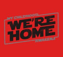 We're Home (Black Grey 2) Kids Clothes