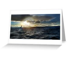 SAILING LIGHT or 'lite' really Greeting Card