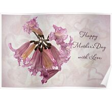 Hearts & flowers for Mother's Day Poster