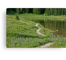A pathway to paradise (Tipsoo Lake) Canvas Print