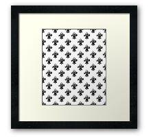 Fleur de lis in black and white. Framed Print