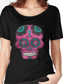 Sugar Skull-Pink Candy Women's Relaxed Fit T-Shirt