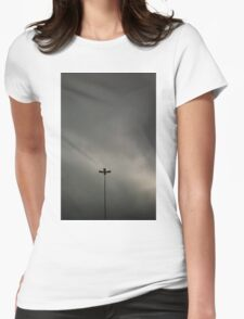 Gray Sky Womens Fitted T-Shirt