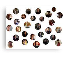 Teen Wolf Cast Dots Canvas Print