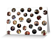 Teen Wolf Cast Dots Greeting Card