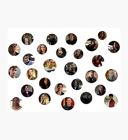 Teen Wolf Cast Dots Photographic Print
