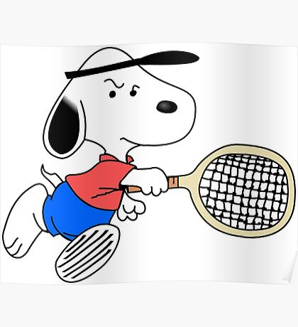 Arcade Classic - Snoopy Tennis Poster