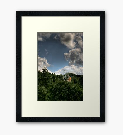 carnival's over. Framed Print