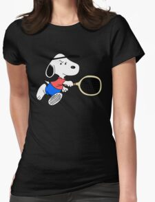 Arcade Classic - Snoopy Tennis Womens Fitted T-Shirt