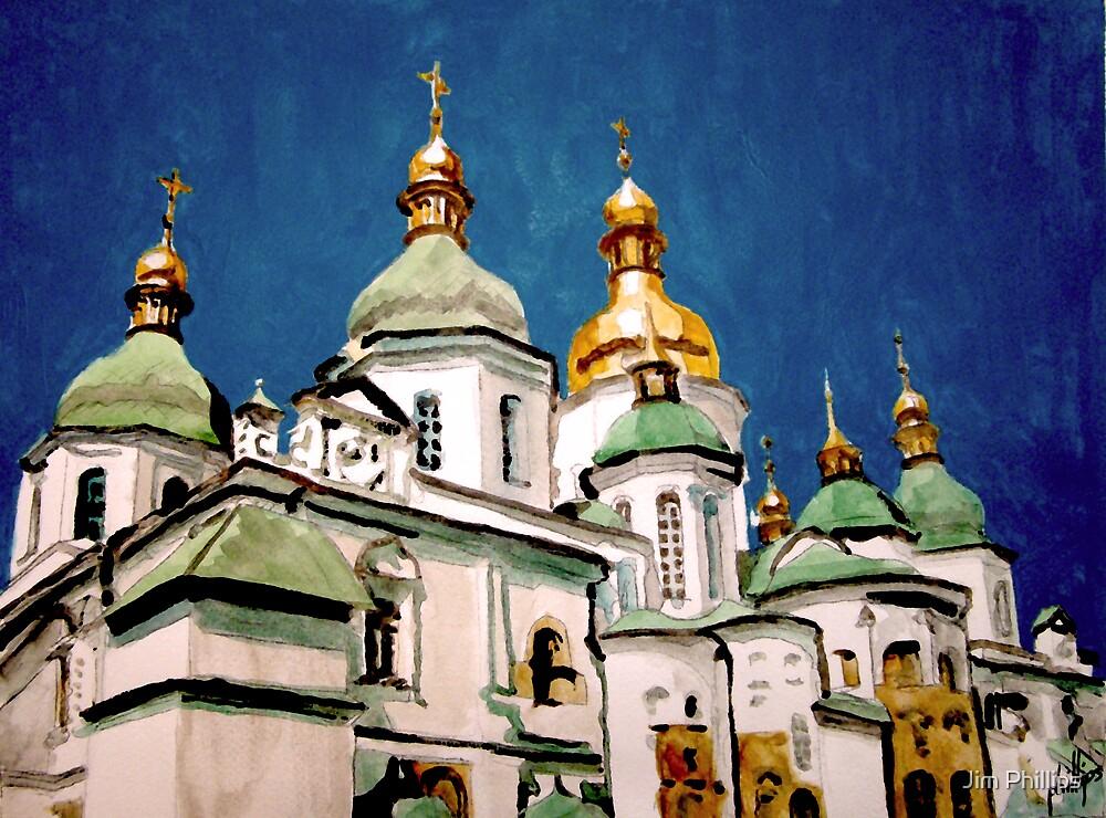 St Sophia Cathedral in Kiev by Jim Phillips