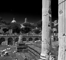 Temple of Mars Ultor, Imperial Rome by John Nelson