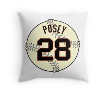 Buster Posey Baseball Design Throw Pillow