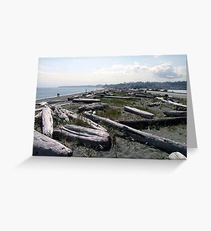 Stroll Among The Logs Greeting Card