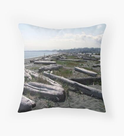Stroll Among The Logs Throw Pillow