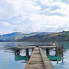 Akaroa Jetty, Canterbury, New Zealand by Shamus Macca