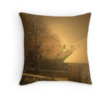 Sunny Winterday Throw Pillow