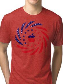 Apple Murican Patriot Flag Series Tri-blend T-Shirt