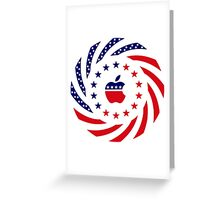 Apple Murican Patriot Flag Series Greeting Card