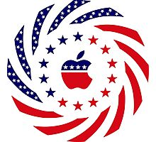 Apple Murican Patriot Flag Series Photographic Print