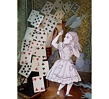 Alice In Wonderland/The Pack of Cards Photographic Print