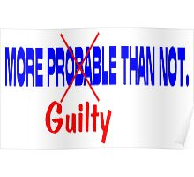 Deflategate More Probable (Guilty) Than Not.  Poster