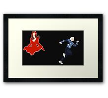 Scarlet Witch & Quicksilver Simplistic  Framed Print