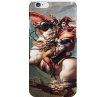 Napoleon Crossing the Alps iPhone Case/Skin