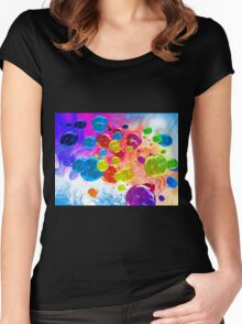 When Rainbows Melt Into Bubbles Women's Fitted Scoop T-Shirt