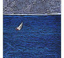 Honolulu Sailboat Photographic Print